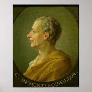 Portret van Charles de Montesquieu Poster