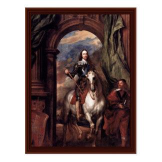 Portret van Charles I, Koning van Engeland Briefkaart