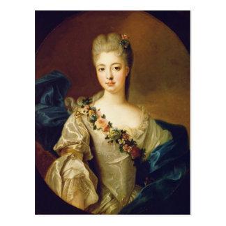 Portret van Charlotte Aglae van Orléans, 1720s Briefkaart