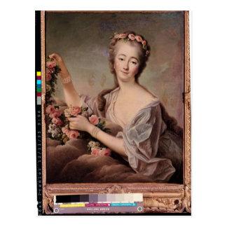 Portret van de Gravin du Barry als Flora Briefkaart