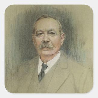 Portret van de Heer Arthur Conan Doyle Vierkante Sticker
