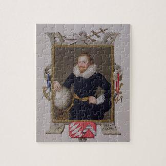 Portret van de Heer Walter Raleigh (c.1552-1618) v Puzzel