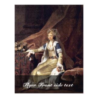 Portret van de Hertogin Louisa van Flyer 21,6 X 27,9 Cm