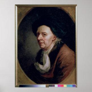 Portret van de Wiskundige Leonard Euler Poster