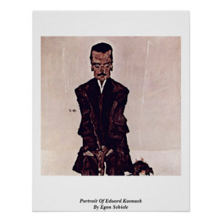 Portret van Eduard Kosmack door Egon Schiele Poster