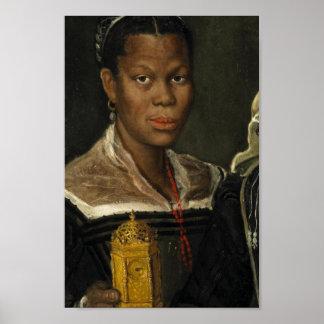 Portret van een Afrikaanse Vrouw van de Slaaf Poster