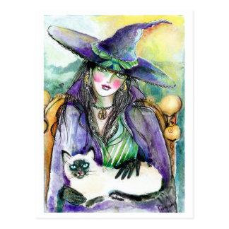 Portret van een BRIEFKAART van de Heks