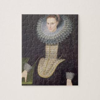 Portret van een Dame, 1613 (olie op paneel) Puzzel