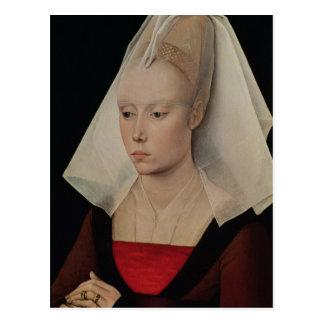Portret van een Dame, c.1450-60 Briefkaart