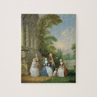Portret van een Familie, 1740 (olie op canvas) Puzzel