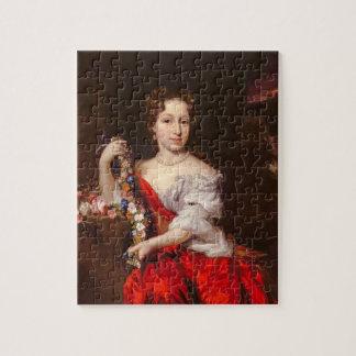 Portret van een Jonge Dame (olie op canvas) Foto Puzzels