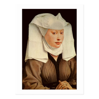 Portret van een Jonge Vrouw in een Gespeld Pet, Briefkaart