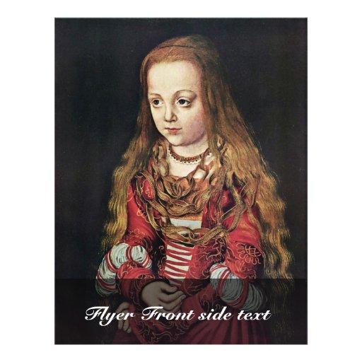 Portret van een Saksische Prinses door Lucas Crana Persoonlijke Folder