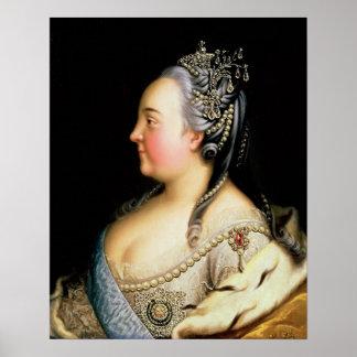 Portret van Elizabeth Petrovna Empress Poster