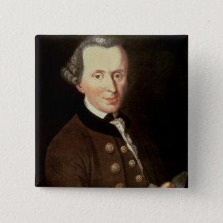 Portret van Emmanuel Kant Vierkante Button 5,1 Cm