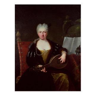 Portret van Faustina Bordoni, de zanger van Handel Briefkaart