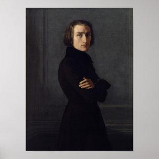 Portret van Franz Liszt 1839 Plaat