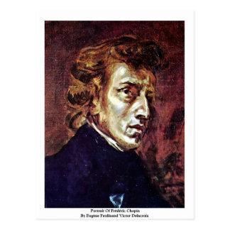 Portret van Frédéric Chopin Briefkaart