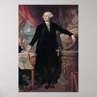Portret van George Washington, 1796 Poster
