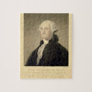 Portret van George Washington, door William wordt  Puzzel