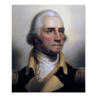 Portret van George Washington Poster