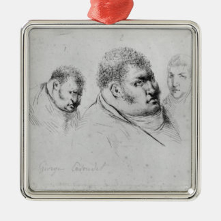 Portret van Georges Cadoudal vijfentwintigste Mei Zilverkleurig Vierkant Ornament