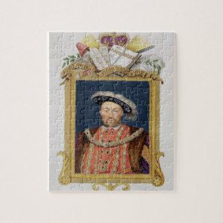 Portret van Henry VIII (1491-1547) als Verdediger  Foto Puzzels