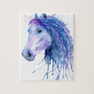 Portret van het Paard van de waterverf het Puzzels