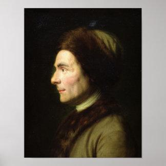 Portret van Jean-Jacques Rousseau Poster