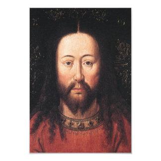 Portret van Jesus-Christus door Jan van Eyck 8,9x12,7 Uitnodiging Kaart