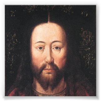 Portret van Jesus-Christus door Jan van Eyck Foto Afdruk
