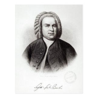 Portret van Johann Sebastian Bach Briefkaart