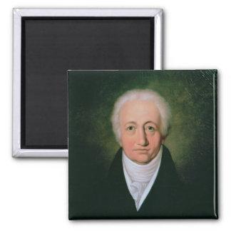 Portret van Johann Wolfgang von Goethe, 1818 Vierkante Magneet