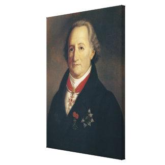 Portret van Johann Wolfgang von Goethe Canvas Print