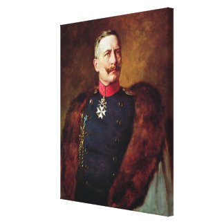 Portret van Kaiser Wilhelm II Canvas Print