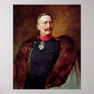 Portret van Kaiser Wilhelm II Poster