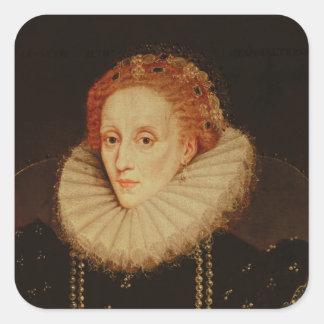 Portret van Koningin Elizabeth I Vierkante Sticker