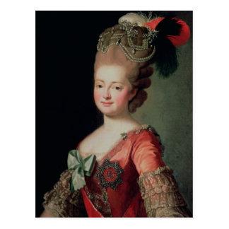 Portret van Maria Fyodorovna Briefkaart