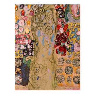 Portret van Maria Munk door Gustav Klimt Briefkaart