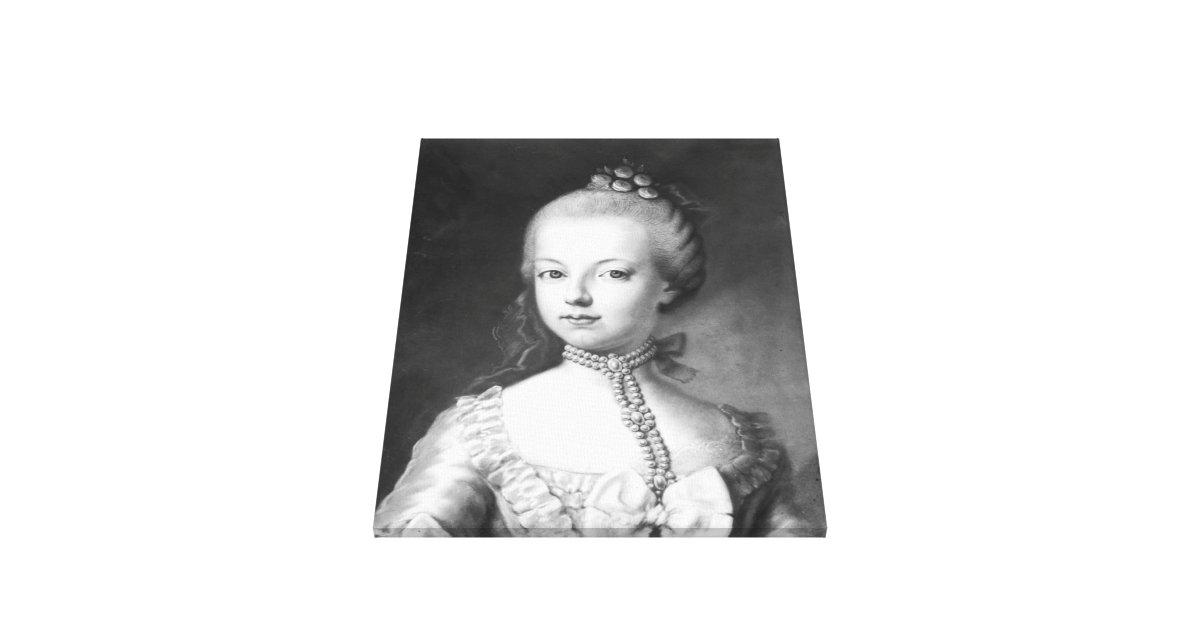 Portret van marie antoinette van habsburg stretched canvas afdrukken zazzle - Stijl van marie antoinette ...