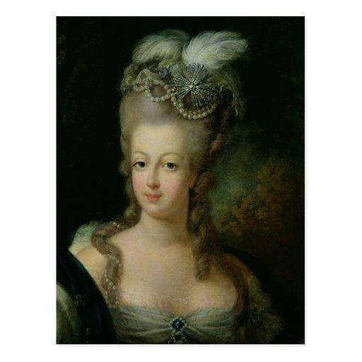 Portret van marie antoinette briefkaart zazzle - Stijl van marie antoinette ...