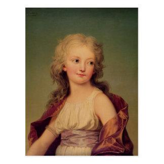 Portret van marie-Therese Charlotte van Frankrijk Briefkaart