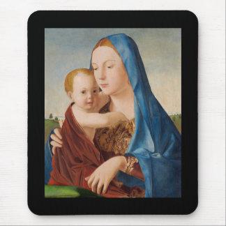 Portret van Mary Holding Baby Jesus Muismat