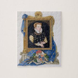Portret van Mary Koningin van Scots (1542-87) van  Puzzels