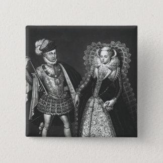 Portret van Mary Koningin van Scots Vierkante Button 5,1 Cm