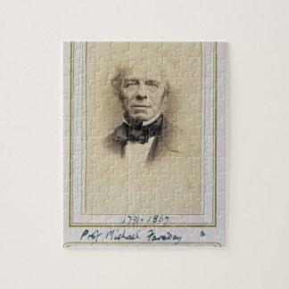 Portret van Michael Faraday (1791-1867) (albumine  Puzzels