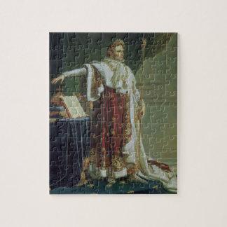Portret van Napoleon I in zijn Robes van de Kronin Puzzel