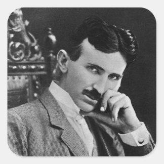 Portret van Nikola Tesla Vierkante Sticker