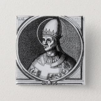 Portret van Paus Gregorius VII Vierkante Button 5,1 Cm