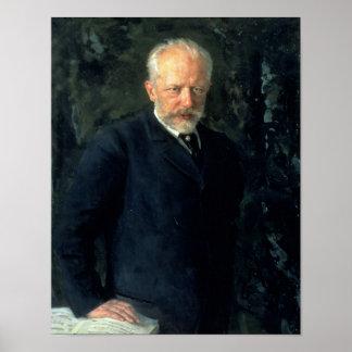 Portret van Piotr Ilyich Tchaikovsky Poster